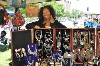 Denise of Shopwize Treasure Chest really enjoyed participating in DCHA's Vendors Bazaar. She said she goes by just Denise because her items do all the work selling themselves.