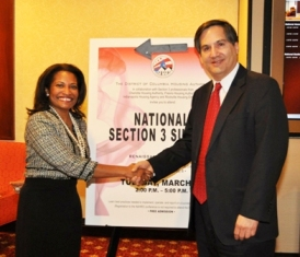 DCHA Executive Director Adrianne Todman with Assistant HUD Secretary for Fair Housing and Equal Opportunity John Trasviña